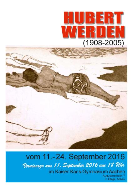 Hubert Werden Plakat